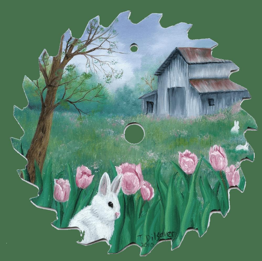 Rabbit in Tulips - transparant copy